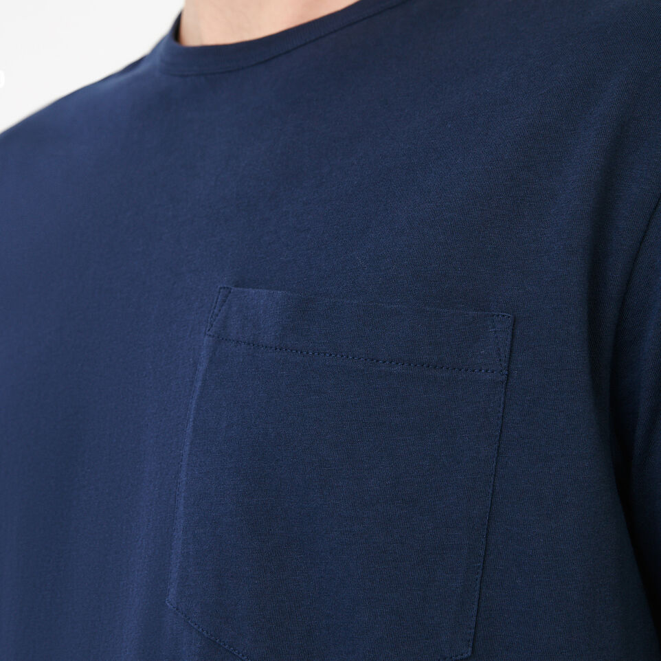 Roots-New For July Men-Essential Pocket T-shirt-Navy Blazer-E