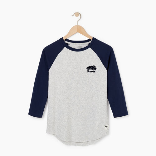 Roots-Sale Tops-Womens Baseball Slim T-shirt-Snowy Ice Mix-A