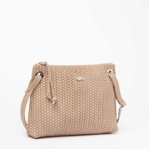 Roots-Sale Leather-Edie Bag Woven Tribe-Sand-A