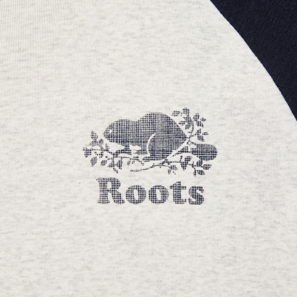 Roots-undefined-Womens Cooper Beaver Baseball T-shirt-undefined-D
