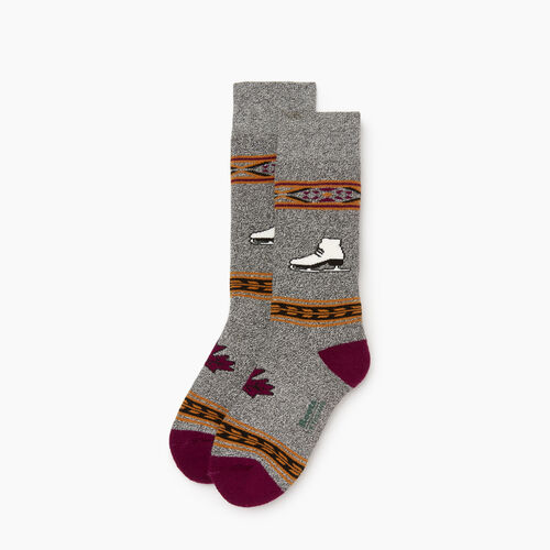 Roots-Kids Our Favourite New Arrivals-Kids Canadiana Boot Sock-Purple-A