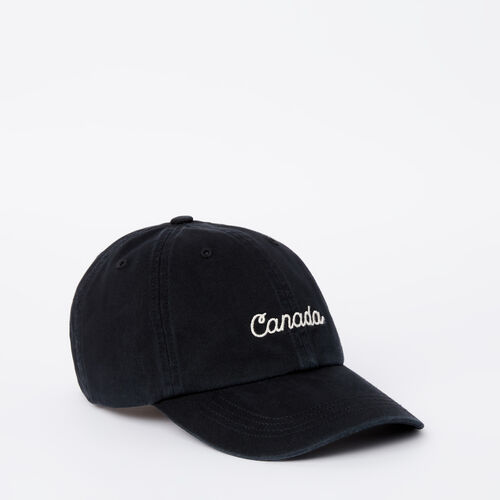 Roots-Sale Accessories-Bedford Baseball Cap-Black-A