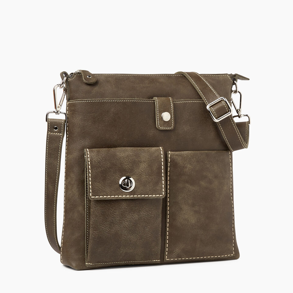 Roots Leather Handcrafted By Us Handbags Canadian Villager Tribe Pine