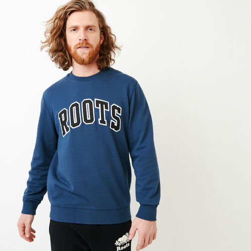 Roots-New For March Sweats-Arch Crew Sweatshirt-Sargasso Sea-A