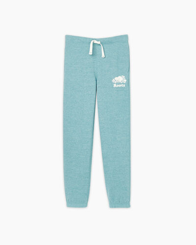 Roots-Sweats Girls-Girls Original Roots Sweatpant-Aqua Pepper-A