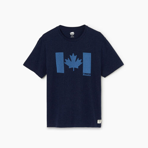 Roots-Men Graphic T-shirts-Mens Original Canada Flag T-shirt-Navy Blazer Mix-A
