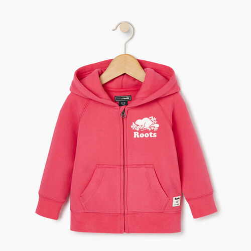 Roots-Sale Baby-Baby Original Full Zip Hoody-Pink Flambé-A