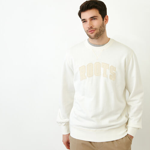 Roots-Men Our Favourite New Arrivals-Nova Scotia Crew Sweatshirt-Cannoli Cream-A