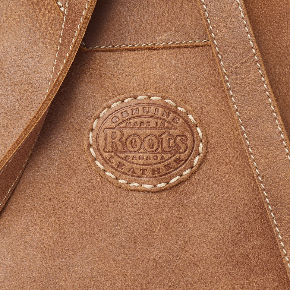 Roots-Leather Backpacks-Trans Canada Backpack-Natural-E