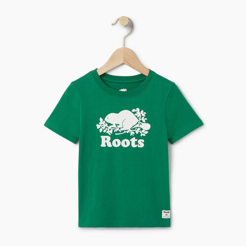 Roots-Kids T-shirts-Toddler Original Cooper Beaver T-shirt-Verdant Green-A