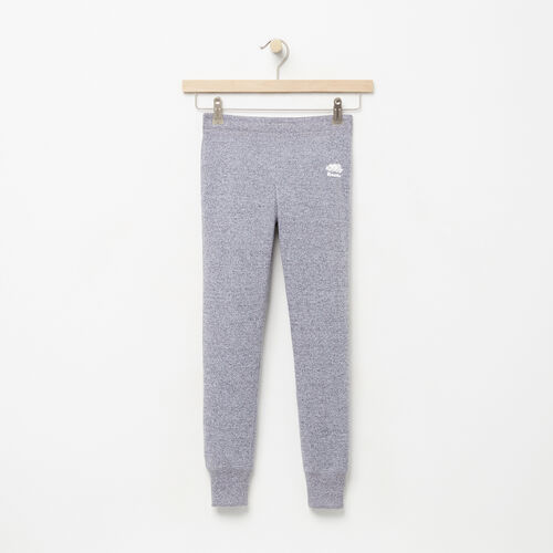 Roots-Clearance Kids-Girls Cozy Fleece Sweatpant-Salt & Pepper-A
