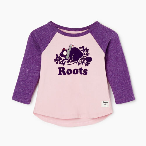 Roots-Sale Kids-Baby Buddy Raglan T-shirt-Grape Royale Pepper-A