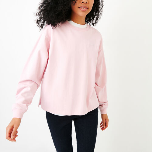 1c81ae7b07f930 Roots-Women Long Sleeve Tops-Brookley Top-Pink Mist-A