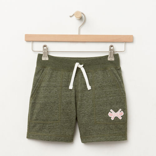 Roots-Kids Bottoms-Girls Camp Short-Duck Green-A