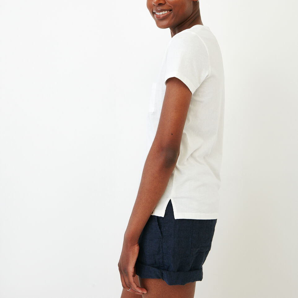 Roots-Women Our Favourite New Arrivals-Essential V T-shirt-Ivory-C