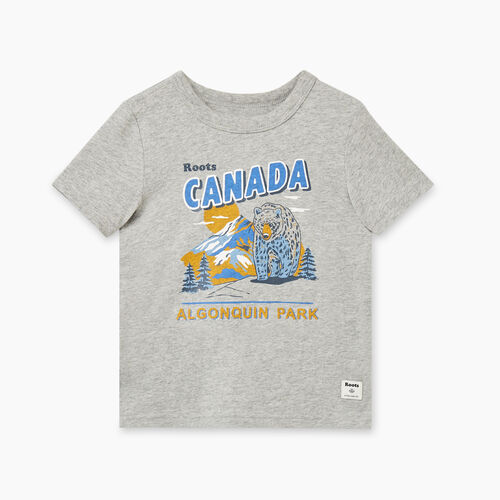 Roots-Kids Toddler Boys-Toddler Roots Camp T-shirt-Grey Mix-A