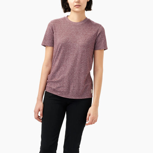 Roots-Women Short Sleeve Tops-Perfect Peppered T-shirt-Northern Red Pepper-A