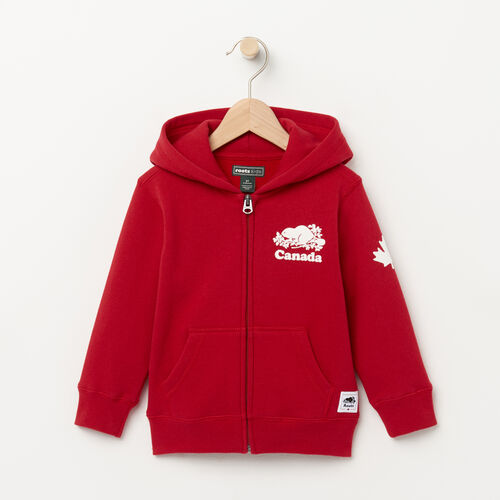 Roots-Kids Toddler Boys-Toddler Canada Full Zip Hoody-Sage Red-A