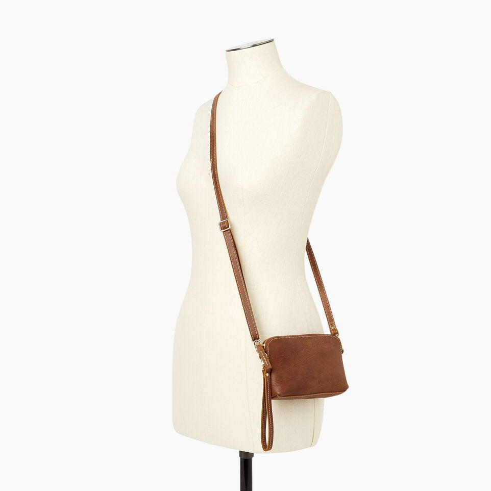 Roots-Leather New Arrivals-Christie Crossbody Tribe-Natural-B