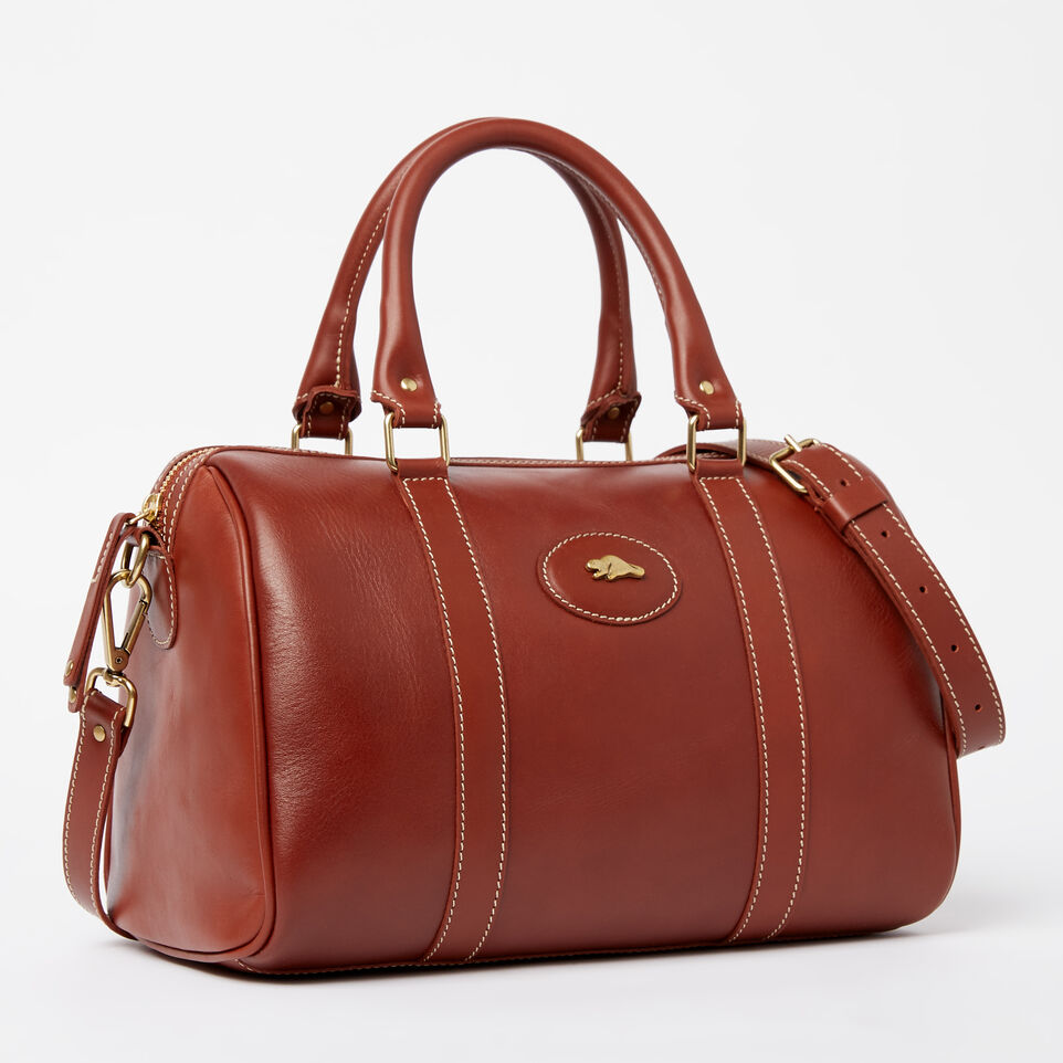 Roots Leather Handcrafted By Us Heritage Doctors Bag Oak