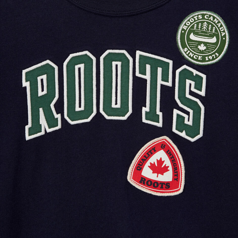 Roots-Kids Our Favourite New Arrivals-Boys Roots Patches T-shirt-Navy Blazer-D