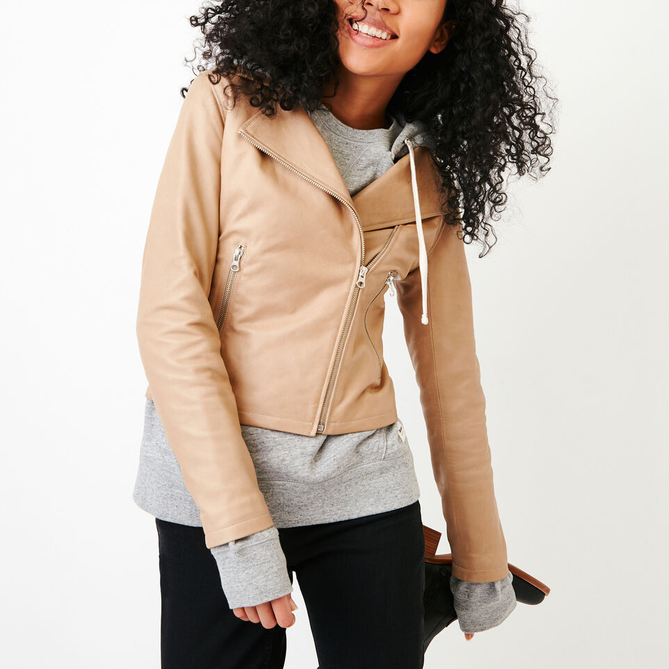 Roots-Women Categories-Shay Jacket Vegetal-Sand-D