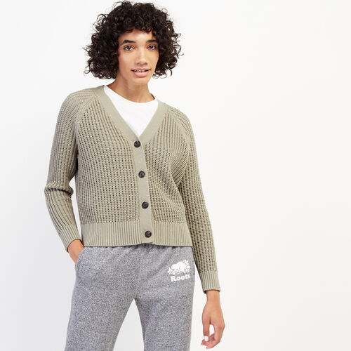 Roots-Women Sweaters & Cardigans-Dellview Cardigan-Vetiver-A