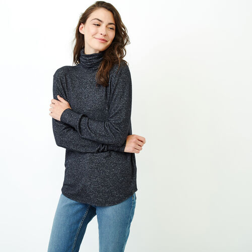 Roots-Women Our Favourite New Arrivals-Cozy Cool Turtleneck Top-Black Mix-A