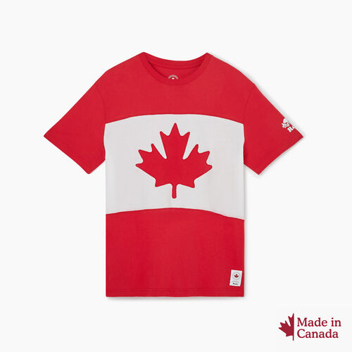 Roots-New For October Canada Collection By Roots™-Mens Blazon T-shirt-Sage Red-A