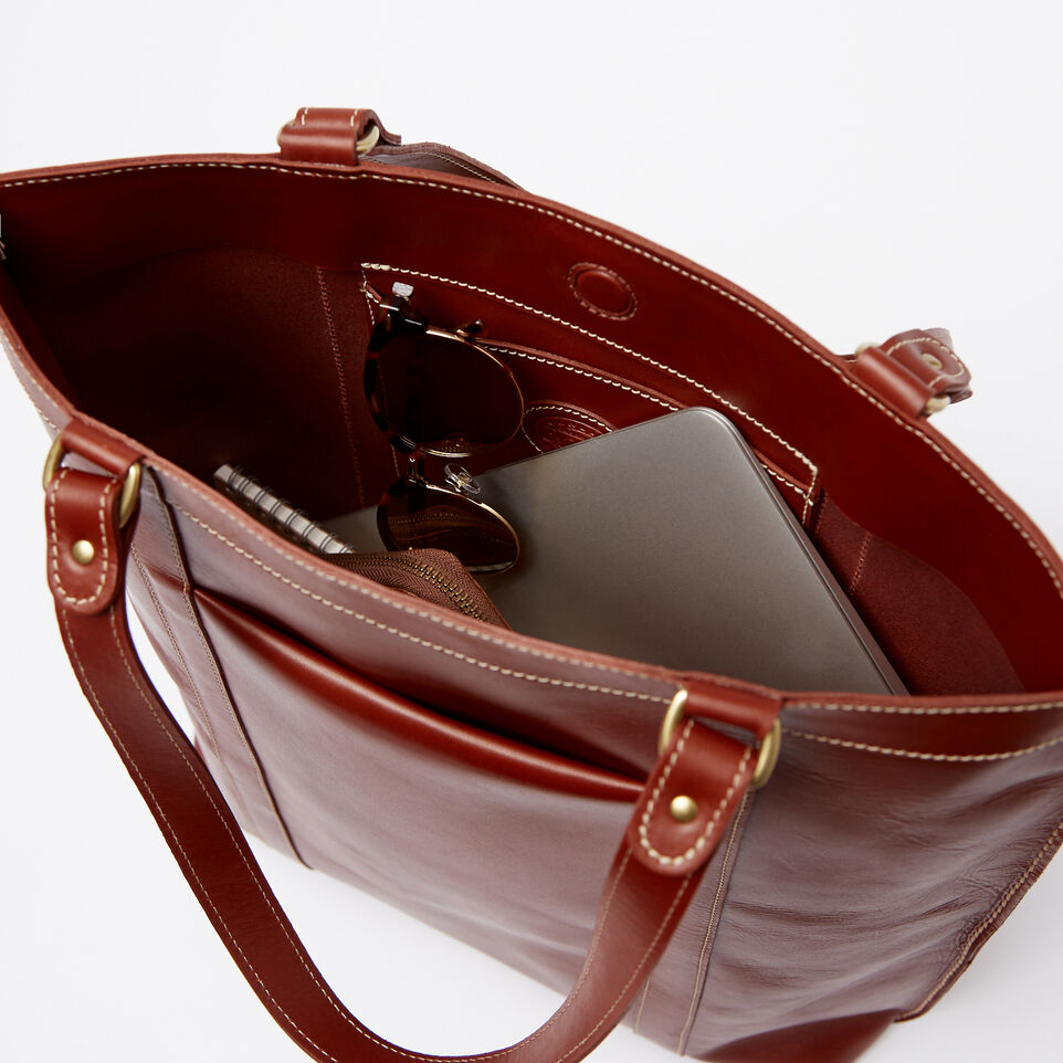 Roots-Clearance Leather-Market Tote Heritage-Oak-E