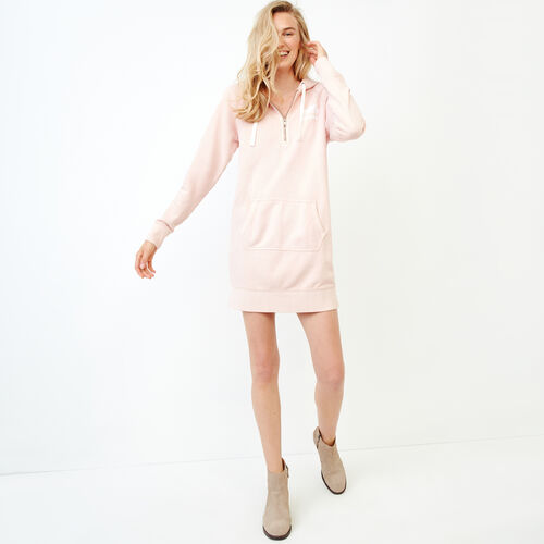 Roots-Women Our Favourite New Arrivals-Garment Dyed Dockside Dress-Pink-A