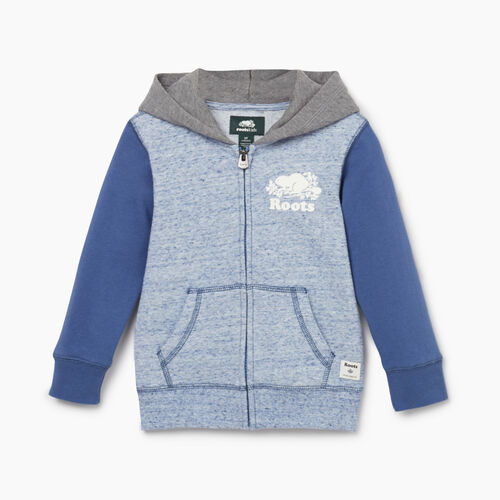 Roots-Kids New Arrivals-Toddler Original Full Zip Hoody-True Navy Mix-A