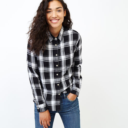 Roots-Women Our Favourite New Arrivals-All Seasons Relaxed Shirt-Black-A