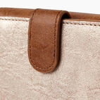 Roots-Women Clothing-Medium Tab Wallet-Champagne/ Natural-E