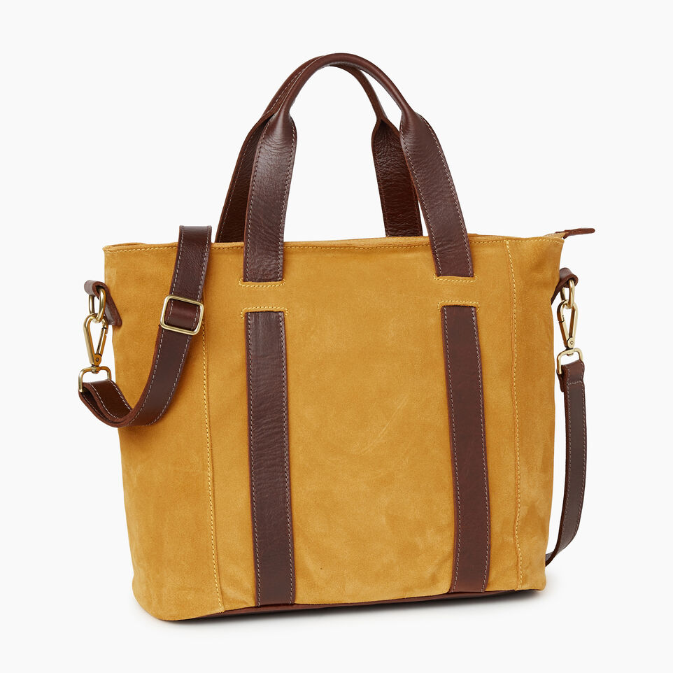 Roots-Women Clothing-Victoria Tote Suede-Squash Yellow-A