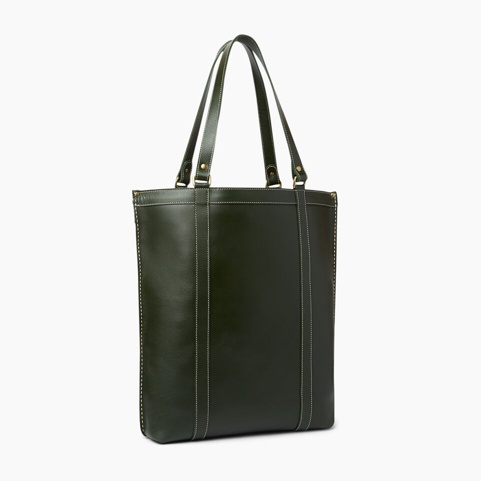 Roots-Winter Sale Leather-Market Tote Heritage-Hunter Green-C