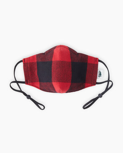 Roots-New For This Month Kids Masks-Kids Park Plaid Reusable Face Mask-Cabin Red-A