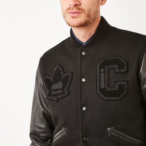 Roots-Leather Award Jackets-Mens Gretzky Jacket Stealth-Black-A