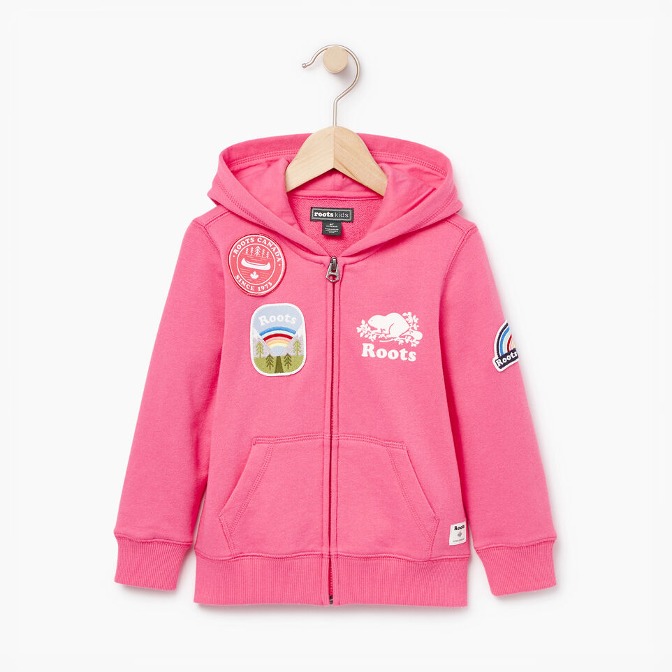 Roots-Kids Our Favourite New Arrivals-Toddler Patches Full Zip Hoody-Azalea Pink-A