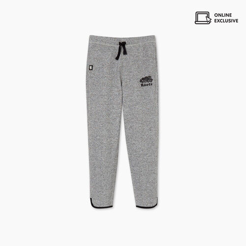 Roots-Kids Bottoms-Girls Norquay Sweatpant-Salt & Pepper-A