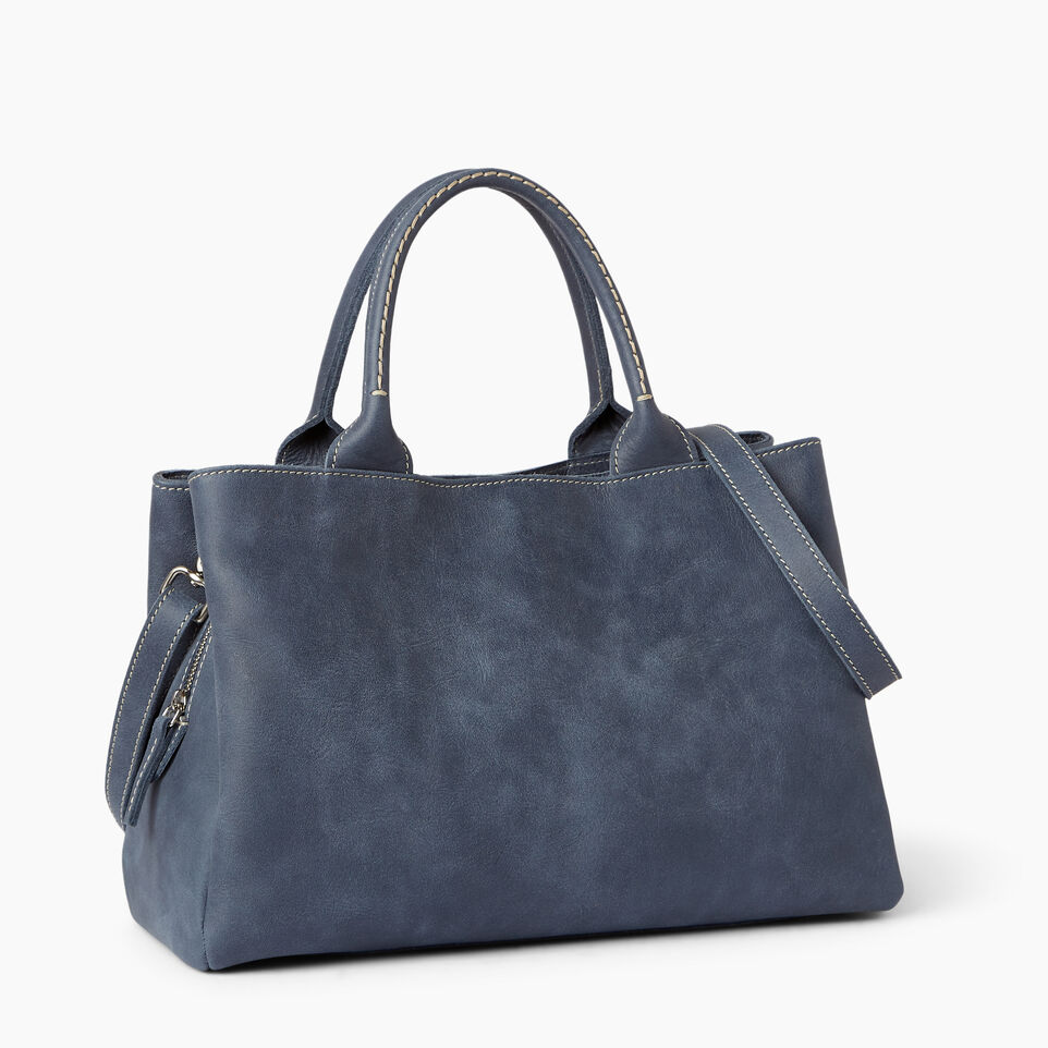 Roots-Leather Categories-Mont Royal Bag-Navy-C