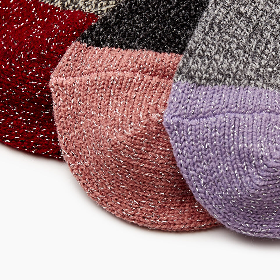 Roots-undefined-Kid Girl Sparkle Cabin Sock 3 Pack-undefined-E