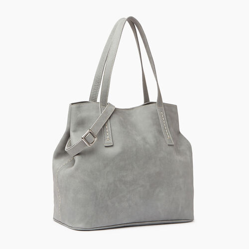 Roots-Leather  Handcrafted By Us Collections-Amelia Tote-Quartz-A