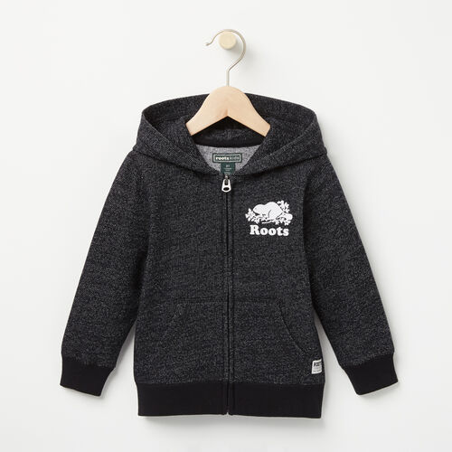 Roots-Kids Toddler Boys-Toddler Original Full Zip Hoody-Black Pepper-A