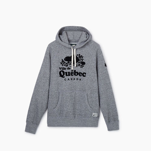 Roots-New For May City Collection-Quebec City Kanga Hoody - Mens-Salt & Pepper-A