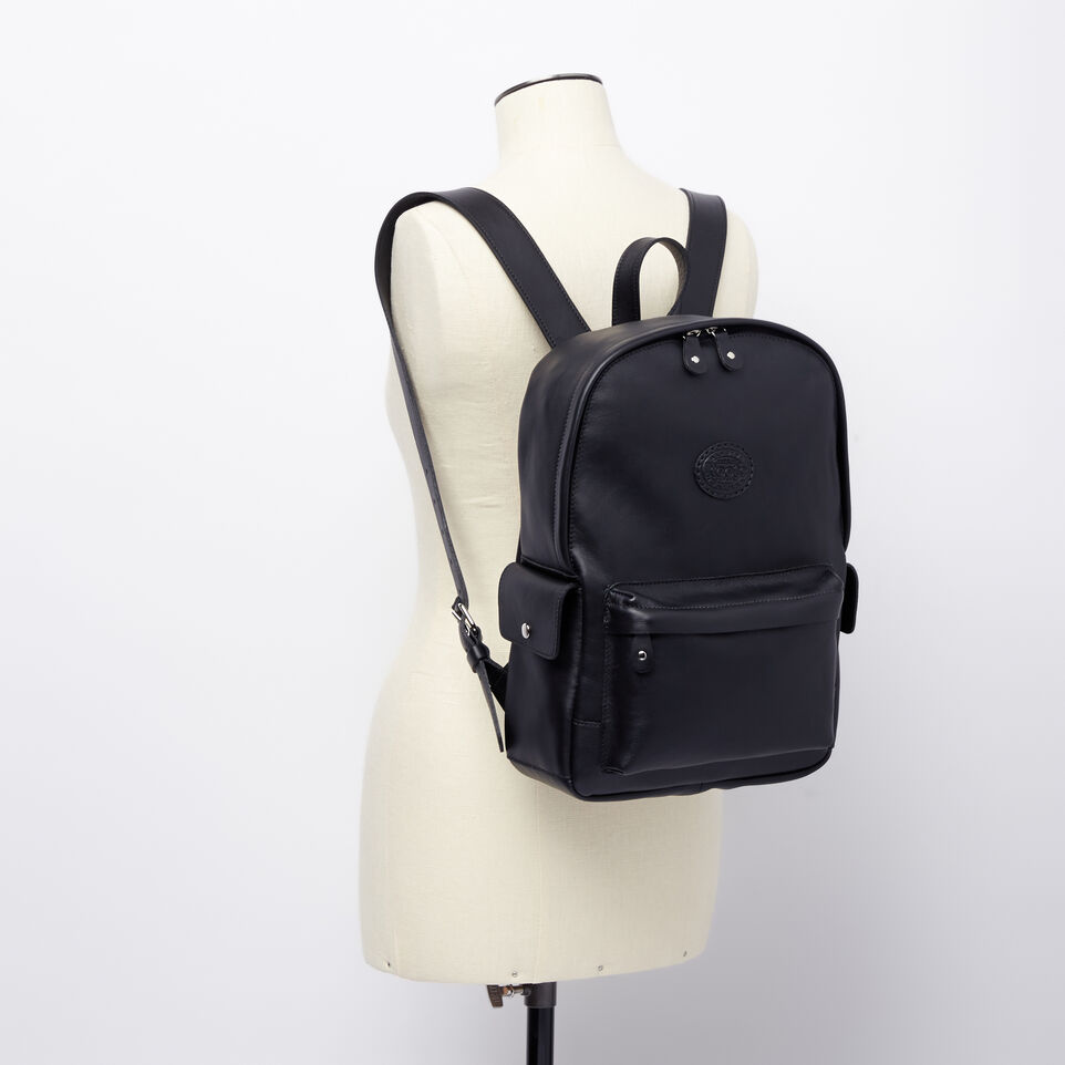 Roots-Winter Sale Leather-Central Pack Box-Black-B