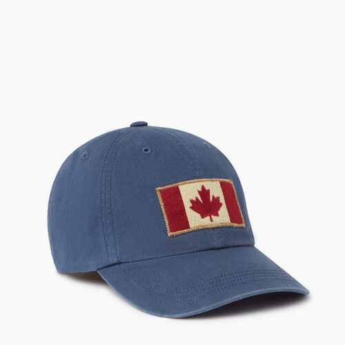 Roots-Men Our Favourite New Arrivals-Vintage Flag Baseball Cap-Navy-A