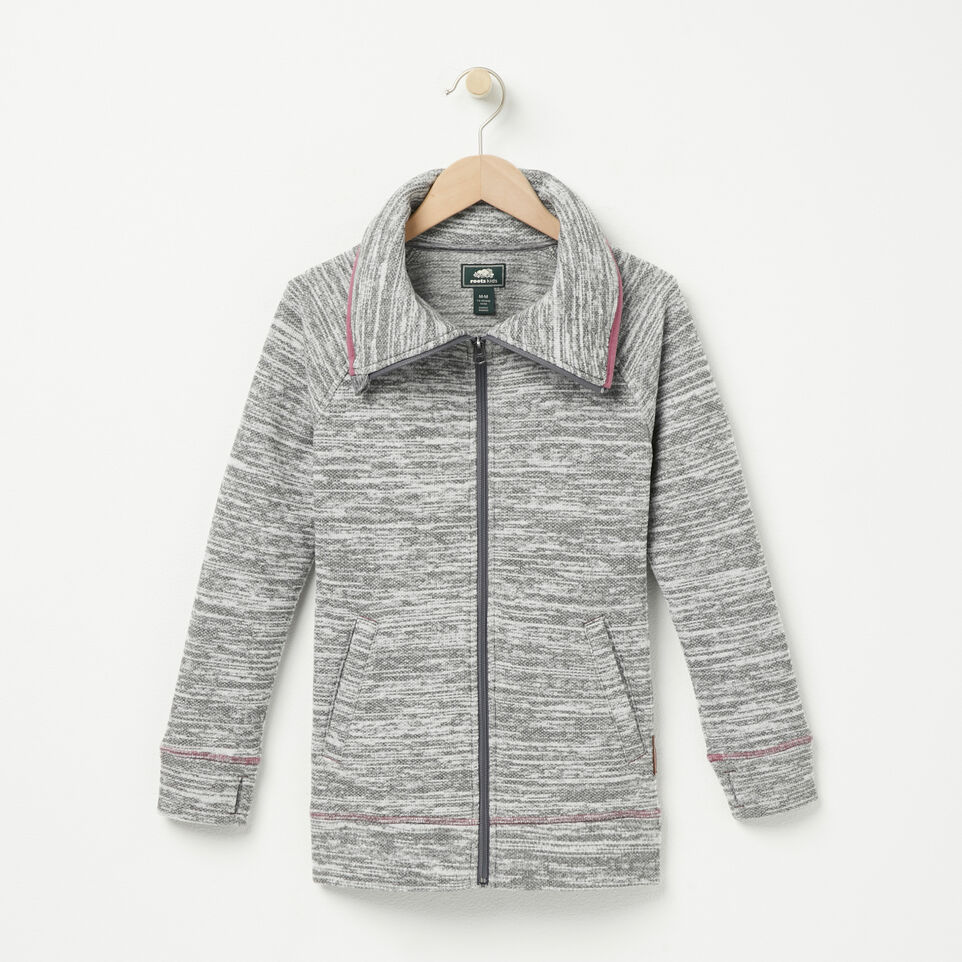 Roots-undefined-Girls Snowfall Zip Jacket-undefined-A
