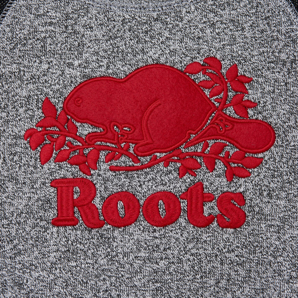 Roots-Kids Tops-Toddler Roots Cabin Crew Sweatshirt-Salt & Pepper-C