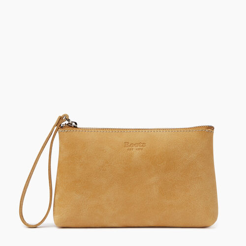 Roots-Leather Our Favourite New Arrivals-Wristlet Pouch-Medallion-A